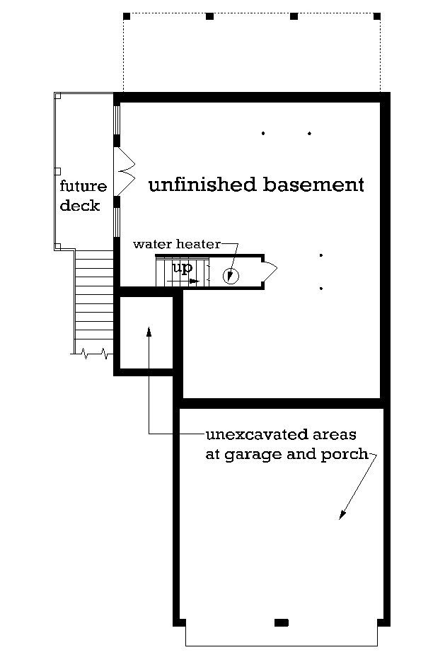 Unfinished Walk-out Basement Foundation
